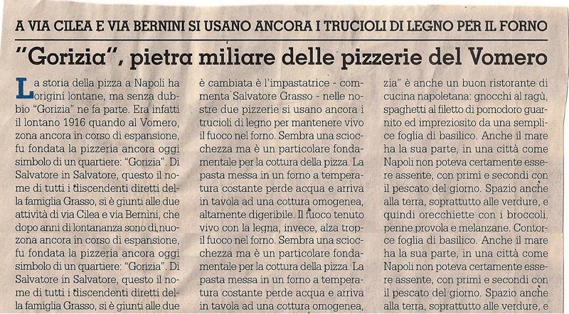 gorizia pietra miliare delle pizzerie del vomero