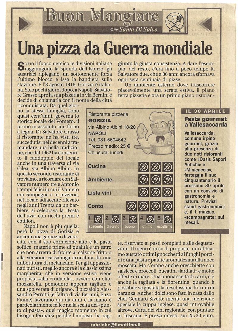 una pizza da guerra mondiale